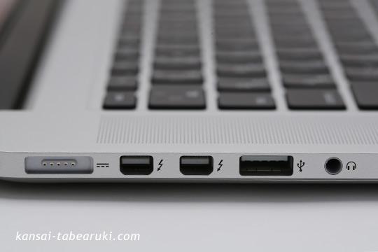 MacBookPro側面の端子